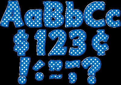 Blue Polka Dots Funtastic 4