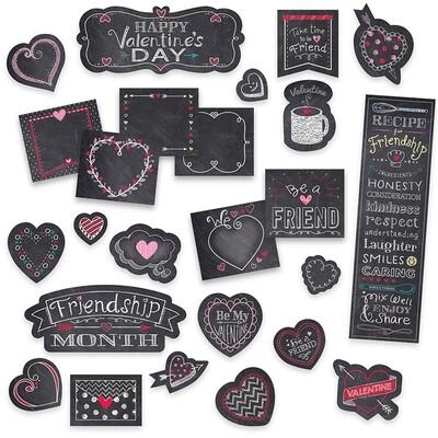 Chalk Hearts (Chalk it up!) Mini Bulletin Board Set