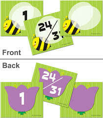 Bee/Flower 2 sided Numbers