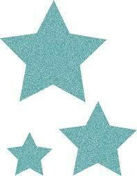 Ice Blue Glitz Stars Accents - Assorted Sizes