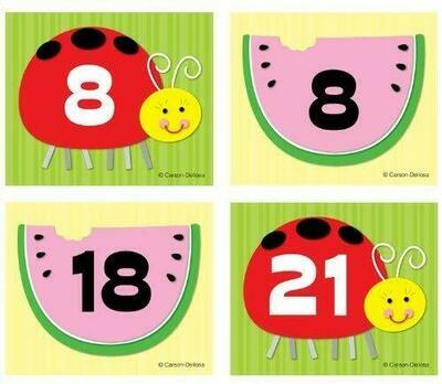 Watermelon Ladybug Calendar Cover-Ups