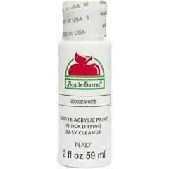 Apple Barrel White Acrylic Paint 2 oz