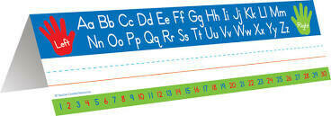 Left/Right Alphabet Tented Name Plates