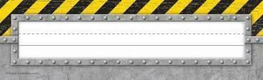 Under Construction Flat Name Plates
