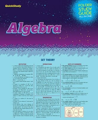 Quick Study Folder & Study Guide Algebra