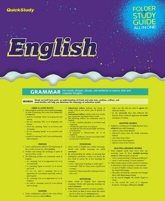 Quick Study Folder & Study English