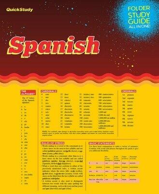 Quick Study Folder & Study Spanish