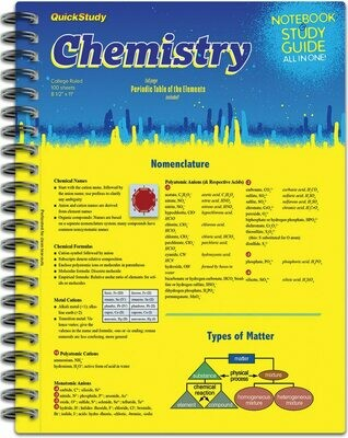 Quick Study Notebook & Study Guide Chemistry