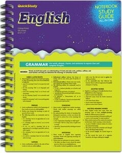 Quick Study Notebook & Study Guide English