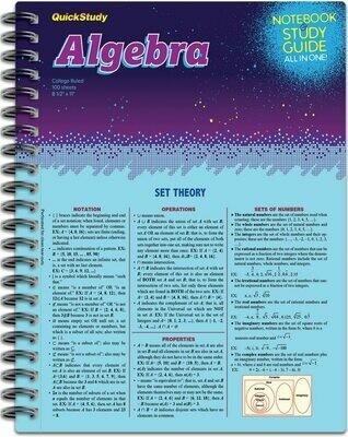 Quick Study Notebook & Study Guide Algebra