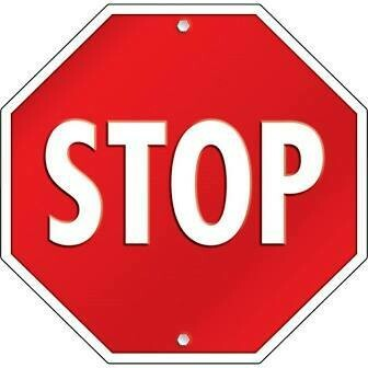 2-Sided Stop Sign