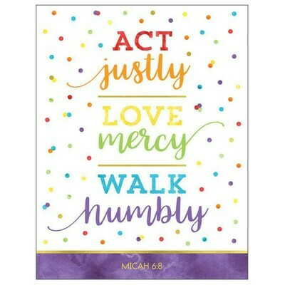 Act Justly Love mercy poster