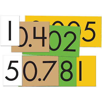 4- Value Place Value Cards Decimals to Whole Numbers