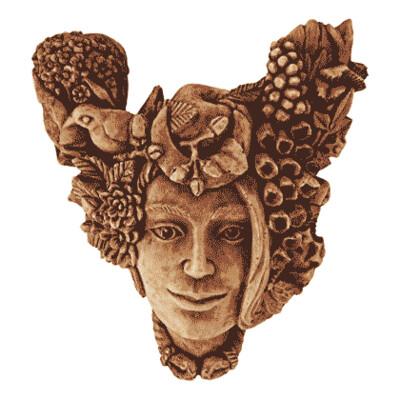 Earth Mother Head, Wood