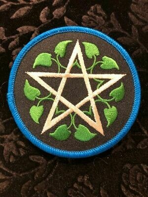 Patches, Wiccan, Leafy Pentagram