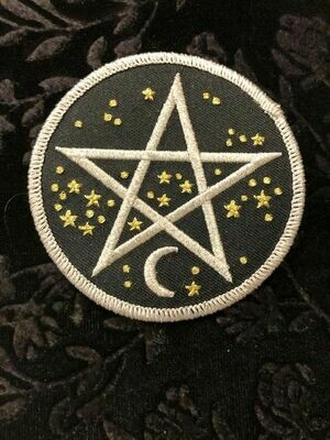 Patches, Wiccan, Starry Pentacle