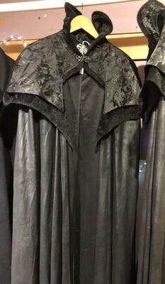 Cape Gothic Vampire, High Collar