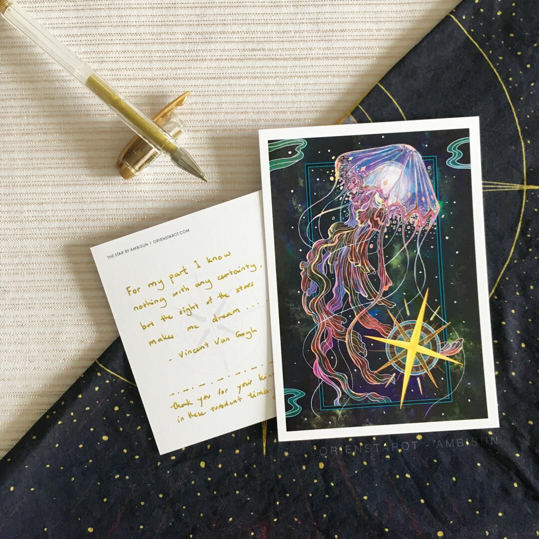The Star Postcard with handwritten affirmation message