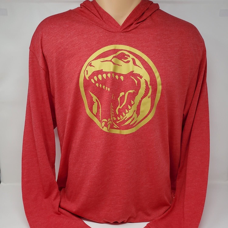 Mighty Tyranno Red Lightweight Hoodie