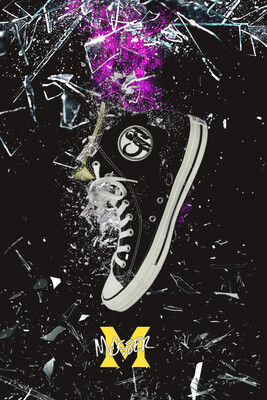 Custom Converse Masto Black