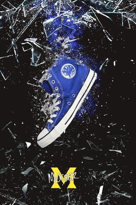 Custom Converse Tricera Blue