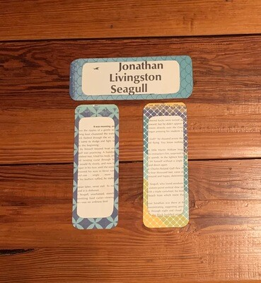 Jonathan Livingston Seagull 3 upcycled bookmarks