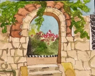 Watercolour Travel Sketching For Beginners - 1 to 4pm Sun 2 February