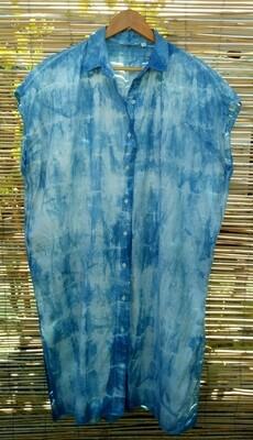 Linen Shibori Shirt