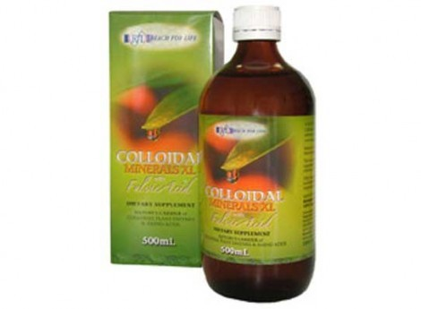 Colloidal Minerals XL with Fulvic Acid (500mL) - Reach for Life 0998