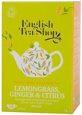 Organic Lemongrass, Ginger & Citrus Tea (20 bags) - English Tea Shop 1068