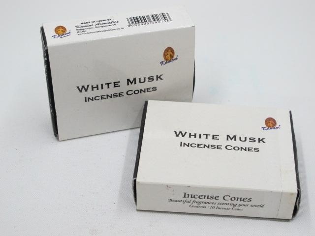 White Musk Incense (10 cones) - Kamini 0890WM