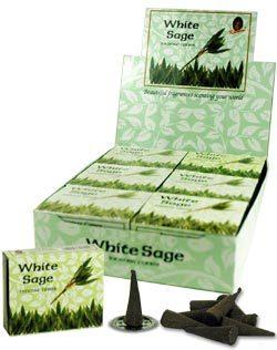 White Sage Incense (10 cones) - Kamini 0890WS