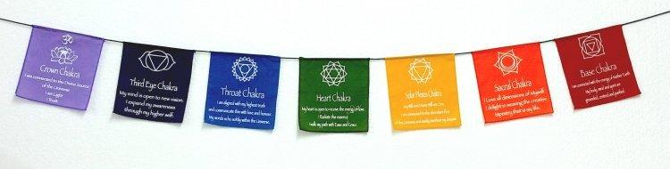 Prayer Flags - Chakras (Large) 1016