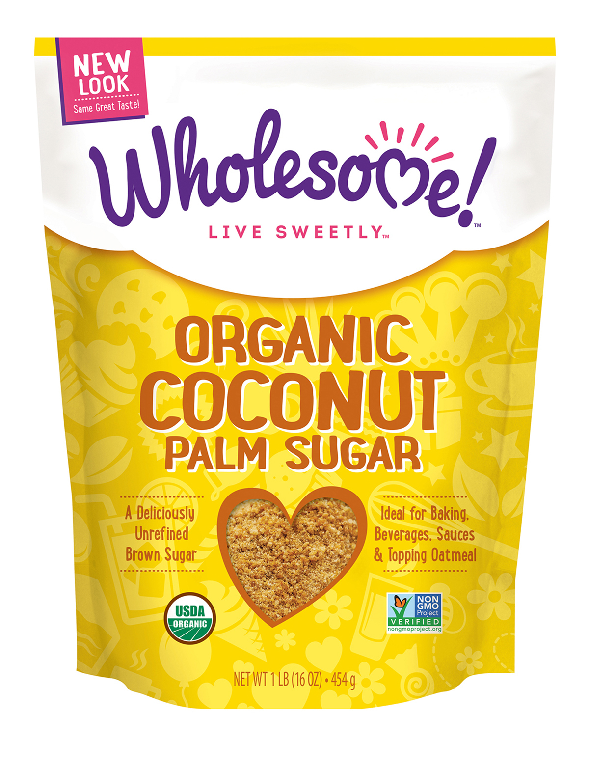 Organic Coconut Palm Sugar (454g) - Wholesome Sweeteners 0700