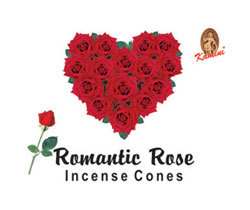 Romantic Rose Incense (10 cones) - Kamini