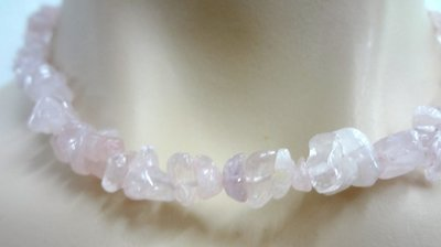 Rose Quartz Crystal Chip Necklace