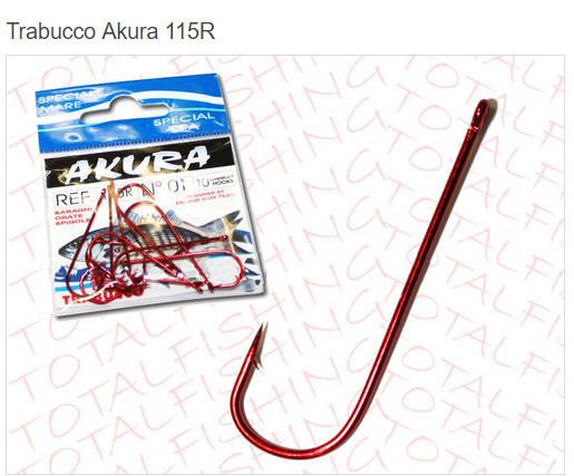 AKURA 115 R red coated aberdeen style hooks