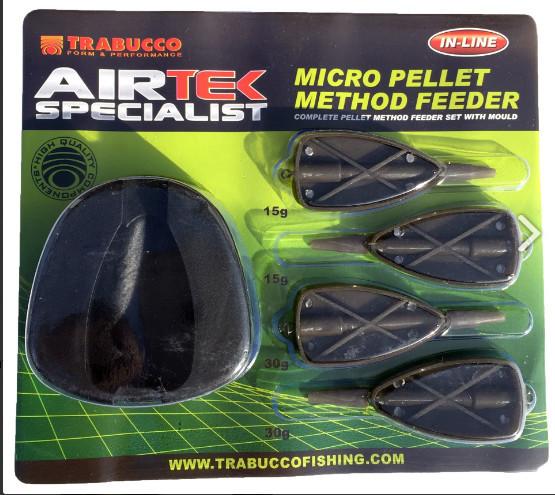 Airtek Micro Pellet Method Feeder   Mould plus 2 x 15g and 2 x 30g Feeders 00620