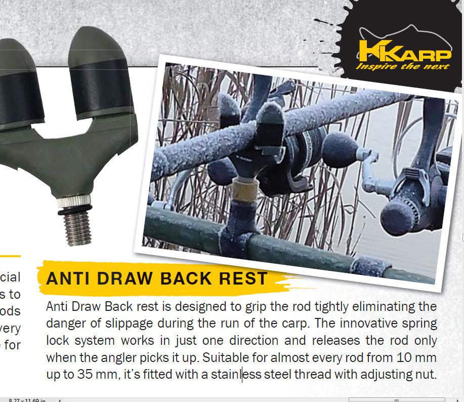Anti Draw Back rest