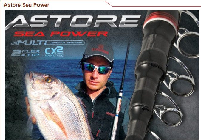 Astore Power 5.0m 300g Telescopic Boat Fishing Rod  3 to 5, 2 tips 300g