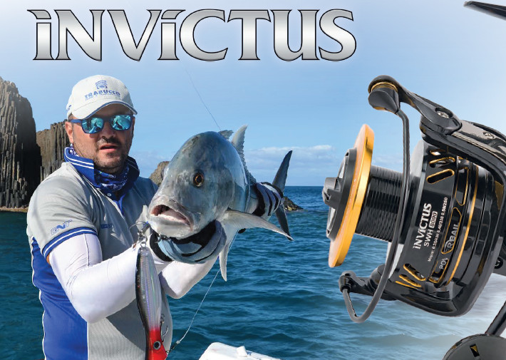 Invictus SW H 8000 heavy duty fixed spool reel for poppers and slow Jigging.