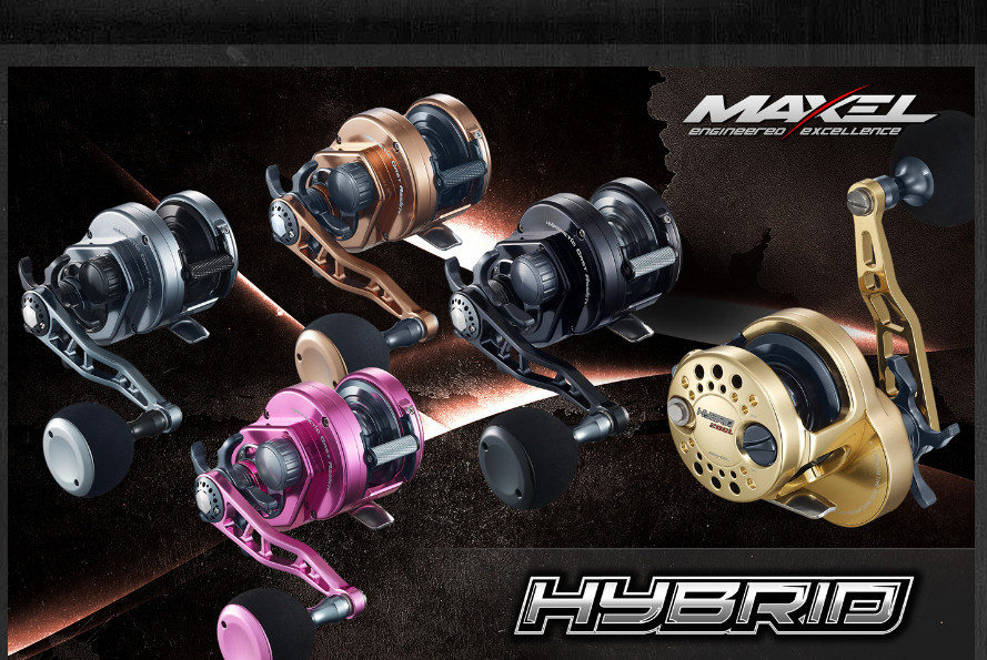 MAXEL HYBRID HY20CL (left handed) wrecking reel.
