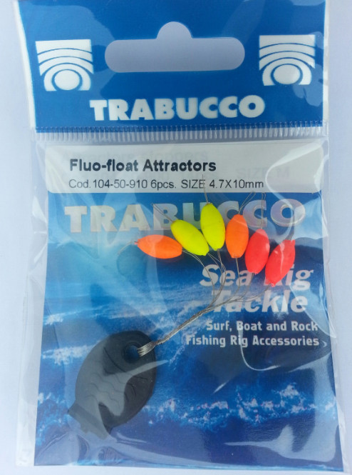 fluo float  stoppers  6 per pack 00105