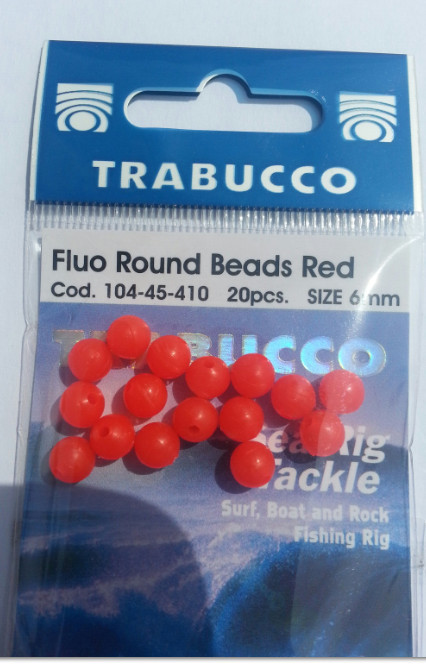 Flou round beads orange 6 mm 00110