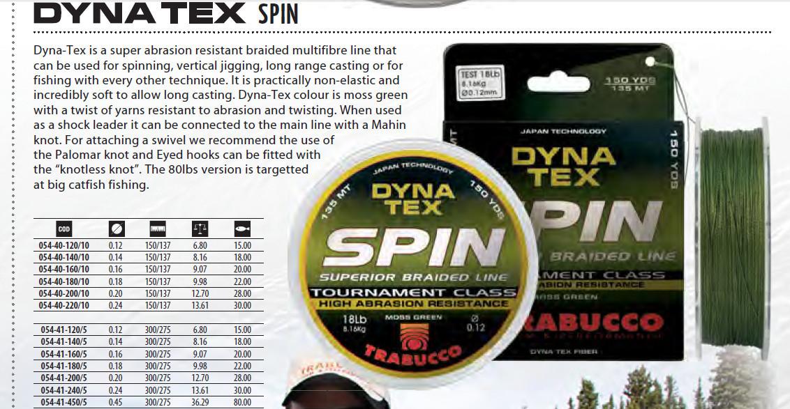 XPS dynatex braided line 100m  spools  .10mm  15lb b/s