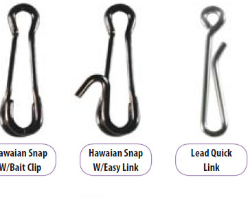 LEAD LINKS AND HAWAIIAN SNAPS