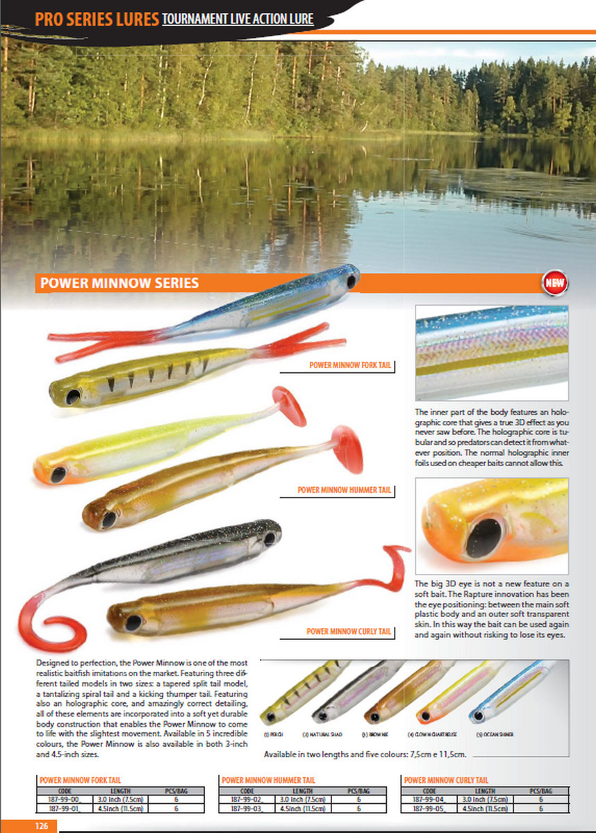 Power Minnow   3 inch and 4.5inch 00212
