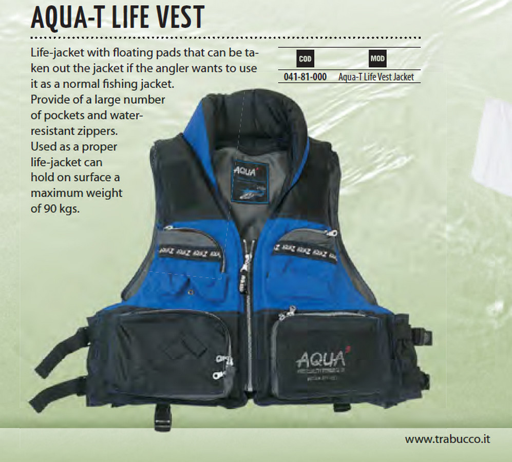 Aqua T PFD floation vest for lure fishing 00216