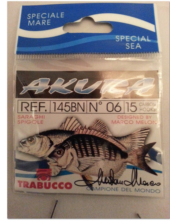 Akura 145 BN  needle point fine wire match hooks for surfcasting