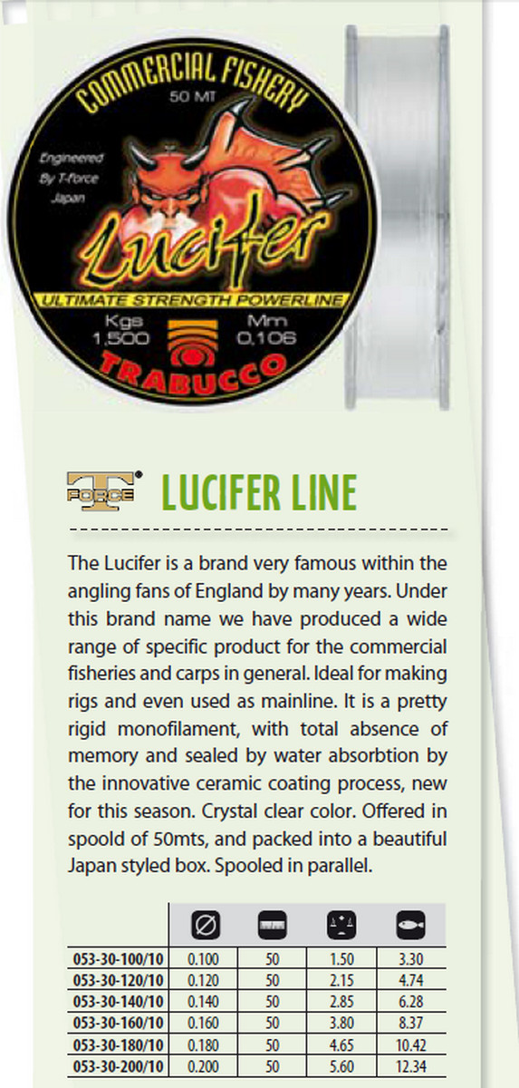 Lucifer commercial fishery pole rig line 00248